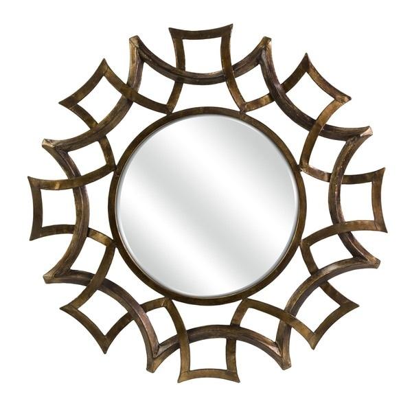 Minogue Wall Mirror - Dark Gold/Brown - A/N