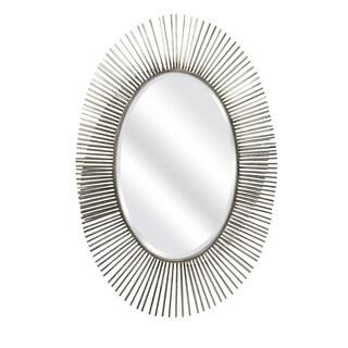 Fabulous Navio Silver Leaf Abstract Wall Mirror