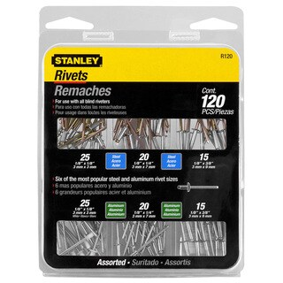 Stanley Hand Tools R120 Aluminum & Steel Rivet Assortment Set 120-ct