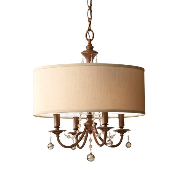 Feiss Clarissa 4 Light Firenze Gold Chandelier - Firenze Gold