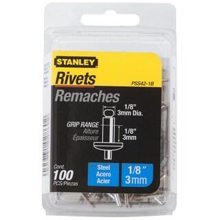 "Stanley Hand Tools PSS42-1B 1/8"" X 1/8"" Steel Rivets 100-ct"