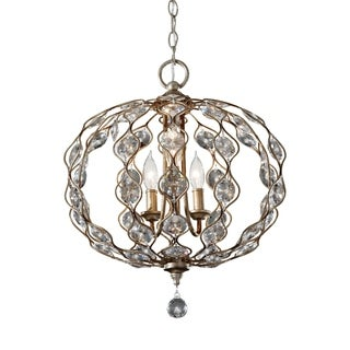 Feiss Leila 3 Light Burnished Silver Chandelier