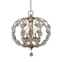 Feiss Leila 3 Light Burnished Silver Chandelier - Light Burnished Silver