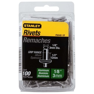 "Stanley Hand Tools PAA48-1B 1/8"" X 1/2"" Aluminum Rivets 100-ct"