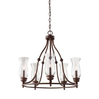 Feiss Pickering Lane 5 Light Heritage Bronze Chandelier