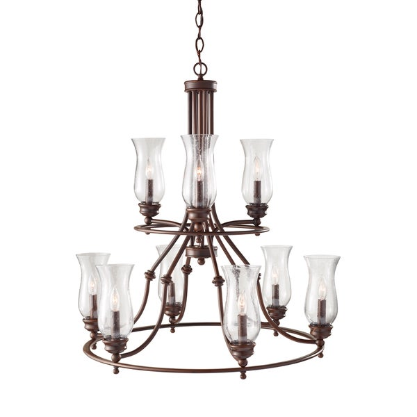 Feiss Pickering Lane 9 Light Heritage Bronze Chandelier