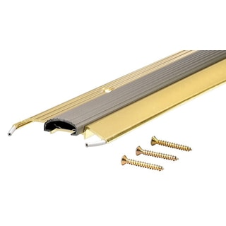 """M-D 09043 36"""" Bright Gold Low Boy Thresholds With Vinyl Seal Aluminum"""