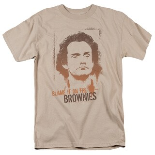 Taxi/Blame It On The Brownies Short Sleeve Adult T-Shirt 18/1 in Sand