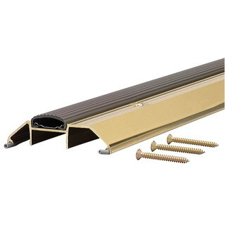 "M-D 09365 36"" Bright Gold High Boy Thresholds With Vinyl Seal Aluminum"