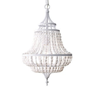Feiss Maarid 1 Light White Semi Gloss Chandelier