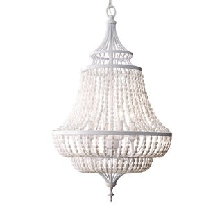 Feiss Maarid 4 Light White Semi Gloss Chandelier