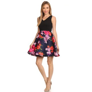 Women's Floral Fit and Flare Dress