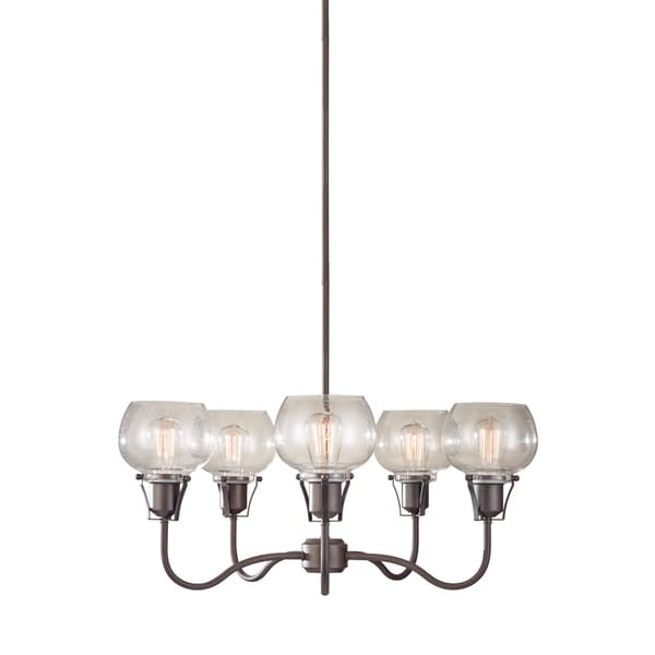 Feiss Urban Renewal 5 Light Rustic Iron Chandelier - Rustic Iron
