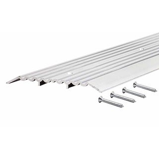 "M-D 11619 36"" Aluminum Commercial Fluted Top Threshold"
