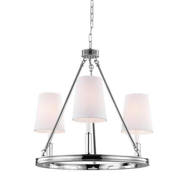 Feiss Lismore 3 Light Polished Nickel Chandelier