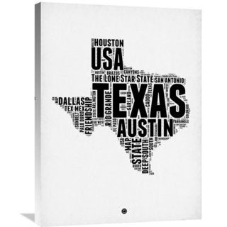 Naxart Studio 'Texas Word Cloud 2' Stretched Canvas Wall Art