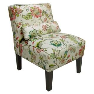 Skyline Furniture Brissac Jewel/Espresso Linen-blend/Pine Armless Chair