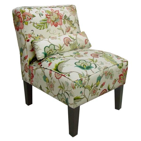 Skyline Furniture Brissac Jewel/Espresso Linen Blend/Pine Armless Chair