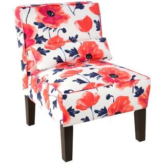 Skyline Furniture Cotton Papaver Espressro/Maraschino Armless Slipper Chair