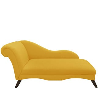 Skyline Furniture French Yellow Linen Chaise Lounge
