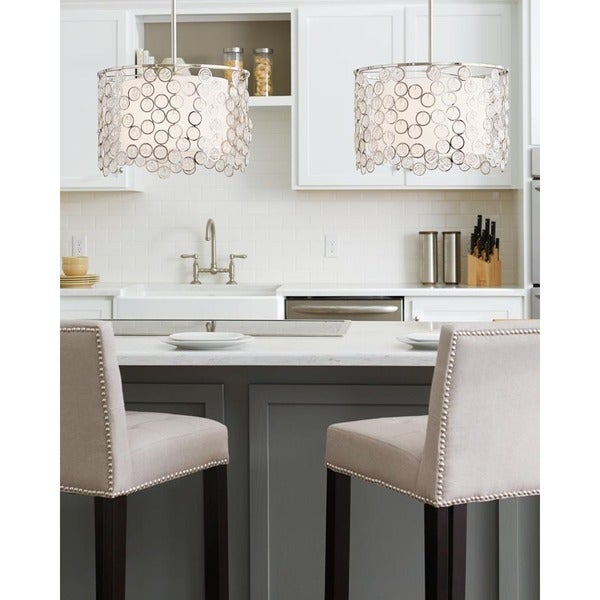 Feiss Lexi 3 Light Polished Nickel Pendant - Polished Nickel