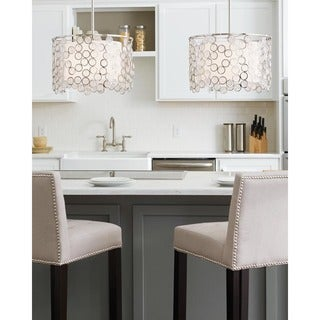 Feiss Lexi 3 Light Polished Nickel Pendant