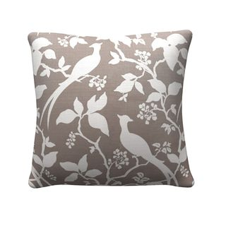 Coaster Company Grey 20-inch Floral Throw Pillow
