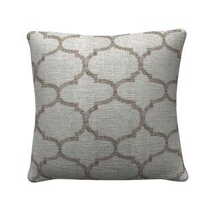Coaster Company Grey Quatrefoil Throw Pillow