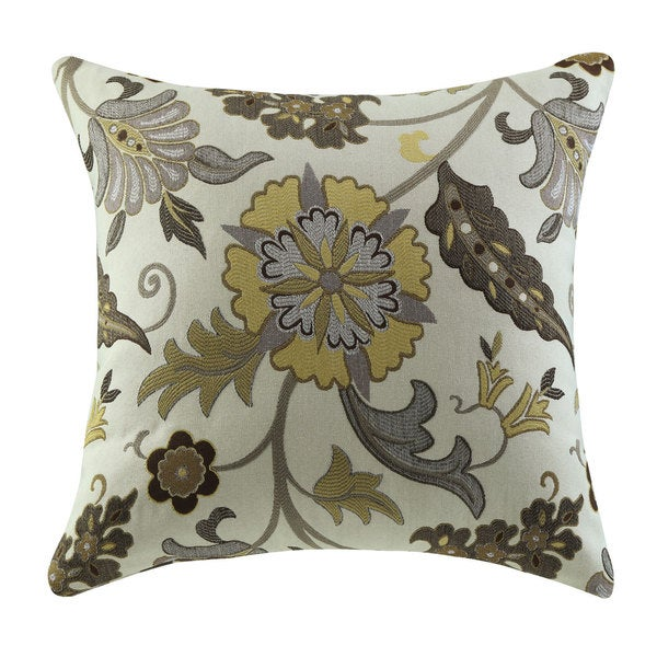 Shop coaster company brown and gold fabric floral throw - Fabric for throw pillows ...