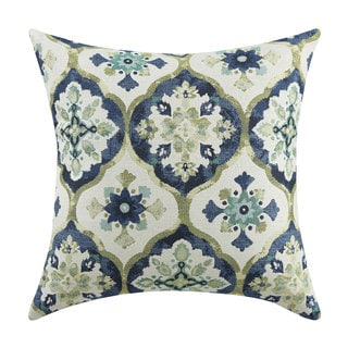 Kaleidoscope Blue/Green Throw Pillow