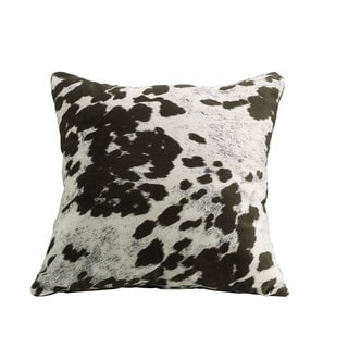 Coaster Brown Polyester 18-inch Cow-print Throw Pillow