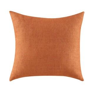 Orange Polyester Textured Throw Pillow