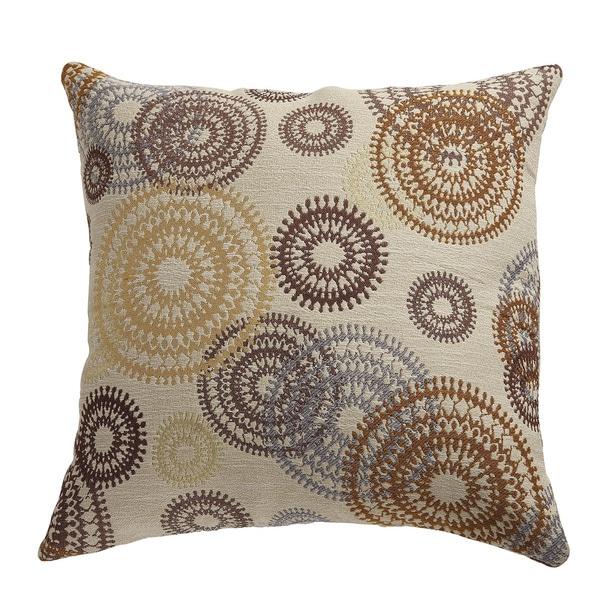 Coaster Company Brown Polyester Circle Motif Throw Pillow