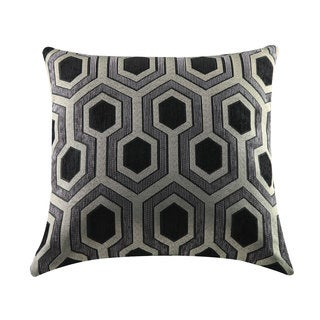 Coaster Black and Grey Geometric Throw Pillow