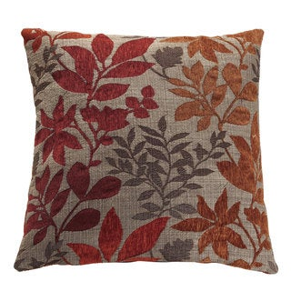Coaster Company Red and Orange Floral Polyester 18-inch Square Throw Pillow