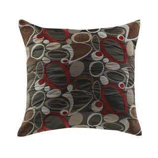 Coaster Polyester Fabric Oblong Geometric Throw Pillow