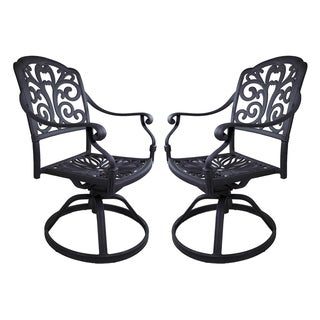 London Antique Bronze Aluminum Swivel Rocker Chairs (Set of 2)
