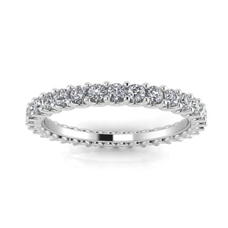 14k White Gold 2/3- 3/4ct TDW Diamond Shared Prong Set Eternity Ring (J-K, SI1-SI2)