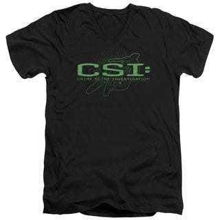 CSI/Sketchy Shadow Short Sleeve Adult T-Shirt V-Neck in Black