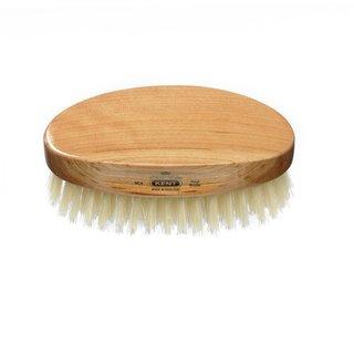 Kent Brushes Men's Oval Cherrywood White Bristle Brush