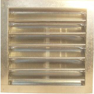 """Norwesco 559013 16"""" x 20"""" Grey Plastic Roof Vent"""