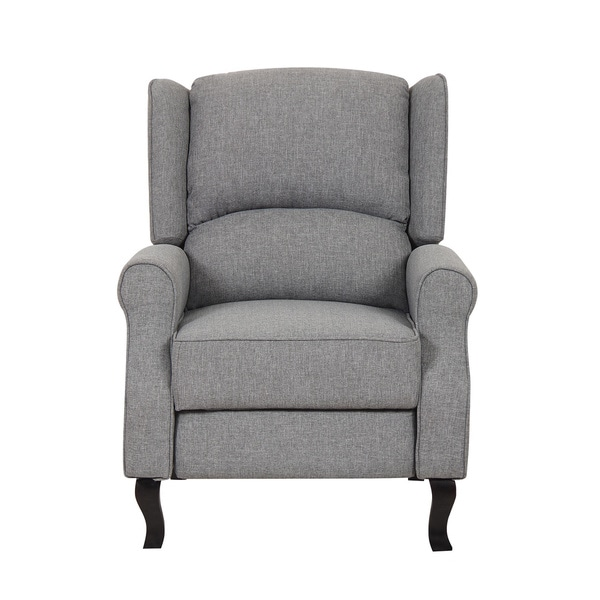 Modern Wingback Linen Fabric Accent Recliner Chair Free