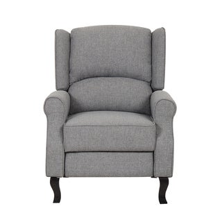 Modern Wingback Linen Fabric Accent Recliner Chair