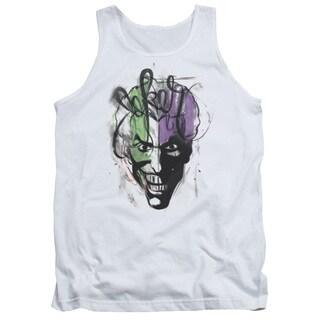 Batman/Joker Airbrush Adult Tank in White