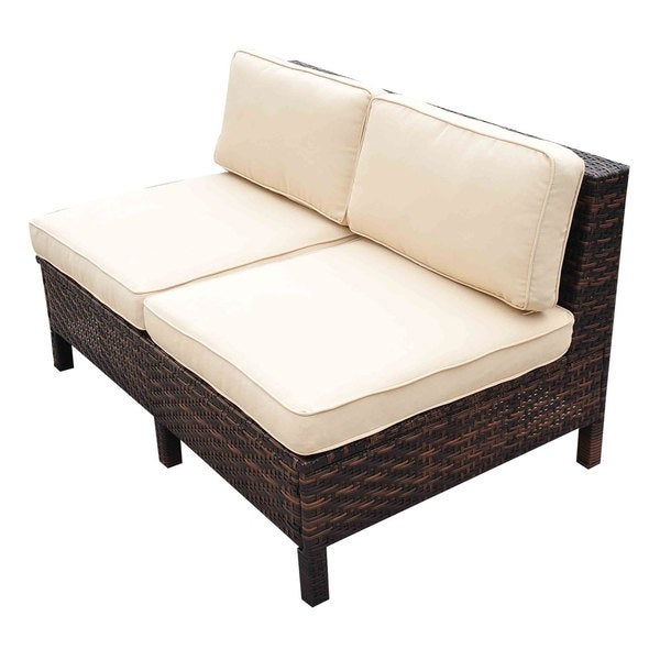 outsunny 9piece outdoor pe rattan sofa sectional and chair set free shipping today