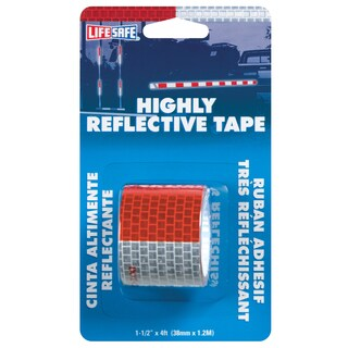 """Incom RE800 1-1/2"""" x 4' Red & Silver Reflective Tape"""