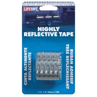 "Incom RE802 1-1/2"" X 4' Silver Highly Reflective Tape"