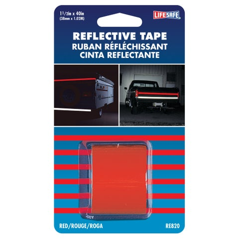 """Incom RE820 1-1/2"""" X 40"""" Red Reflection Tape"""