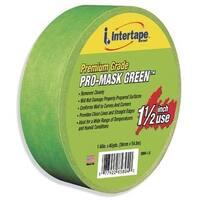 "Intertape Polymer Group 5804-1.5 1-1/2"" Premium Grade Pro-Mask Green Painters' Tape"