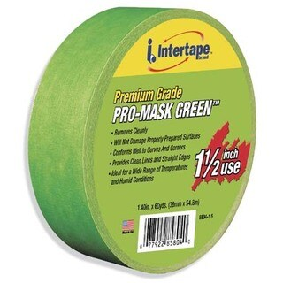 "Intertape Polymer Group 5804-1.5 1-1/2"" Premium Grade Pro-Mask Green Painters' Tape"